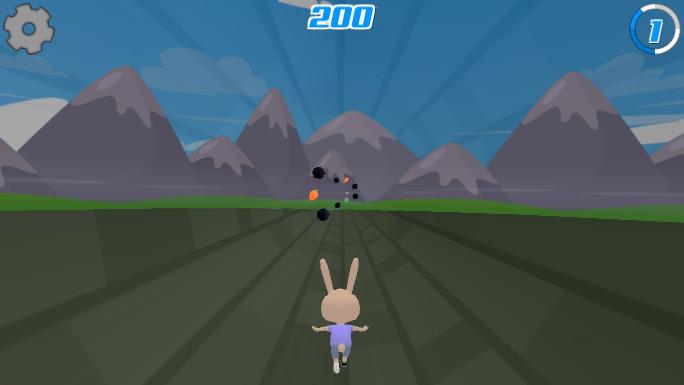 Screenshot of Bunny 3D Blast Bonus Stages