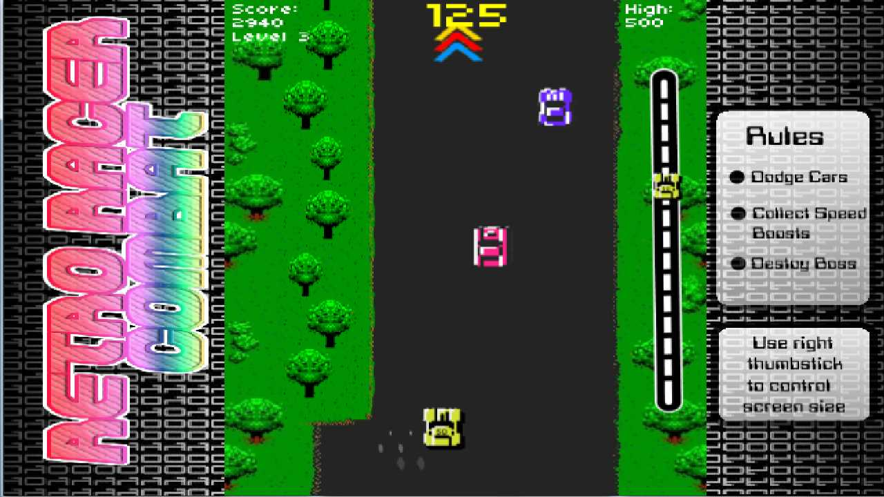 Screenshot of Retro Racer Combat