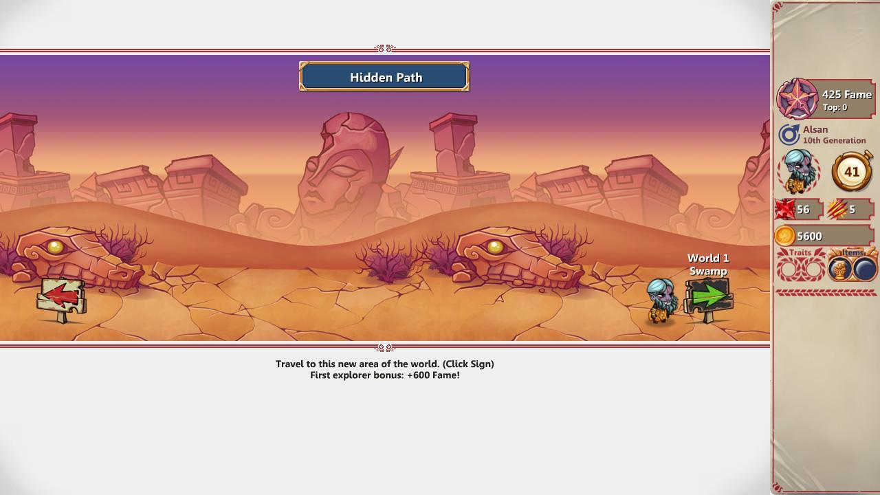 Screenshot of Hero Generations
