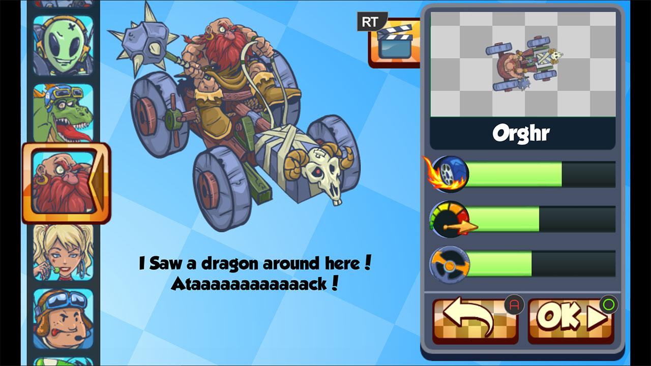 Screenshot of MiniZ Racers