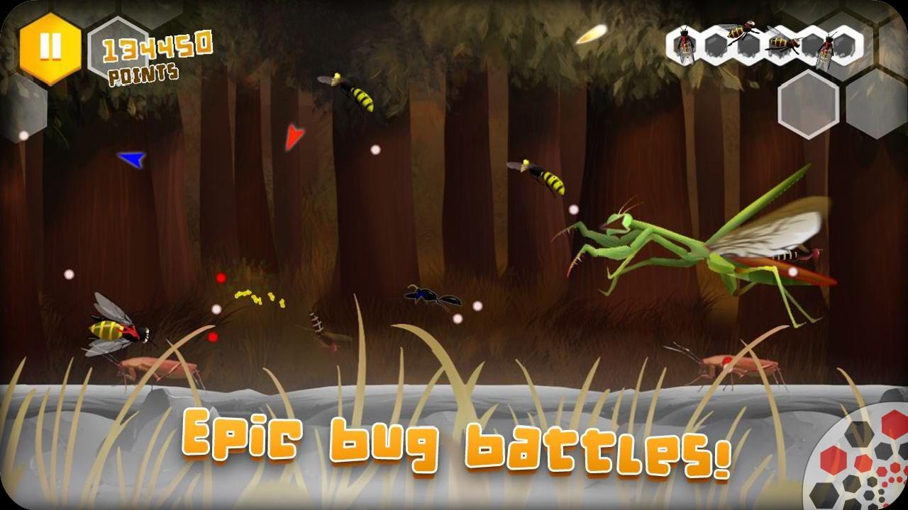 Screenshot of Beekyr: Eco shoot em up