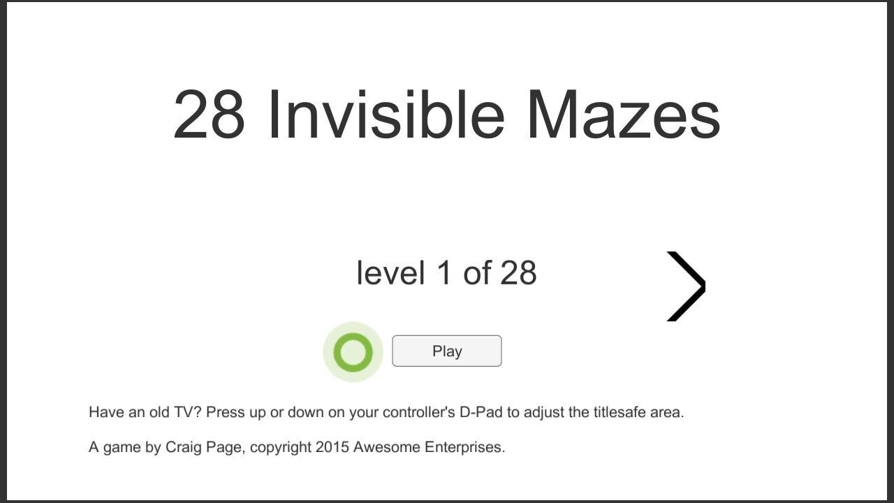 Screenshot of 28 Invisible Mazes