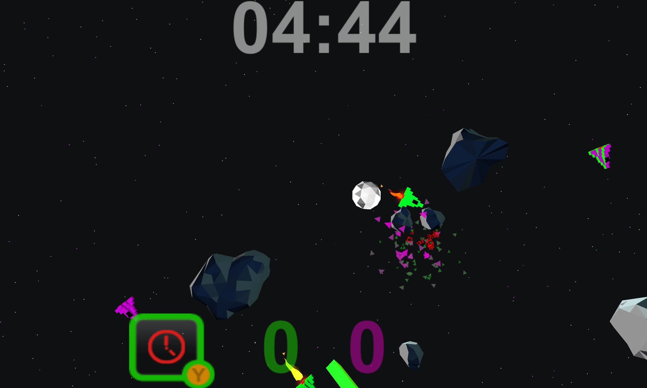 Screenshot of Asteroid Soccer 2014