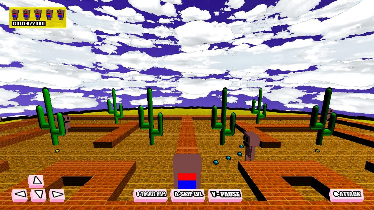 Screenshot of Attack of the Naked Blockheads 3D