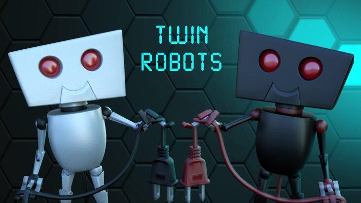 Screenshot of ../game/com.Thinice.TwinRobots.htm