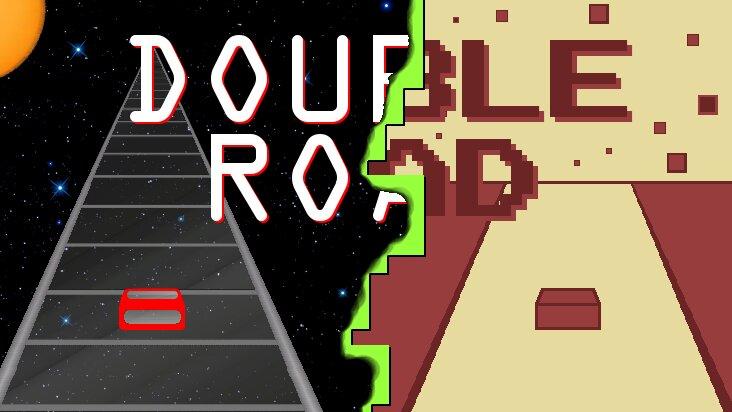 Screenshot of ../game/com.cosmic.doubleroad.htm