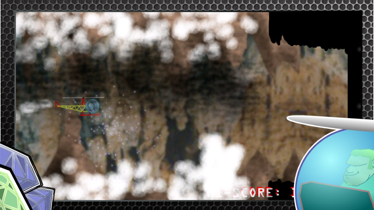 Screenshot of Helicopter. Escape the cave