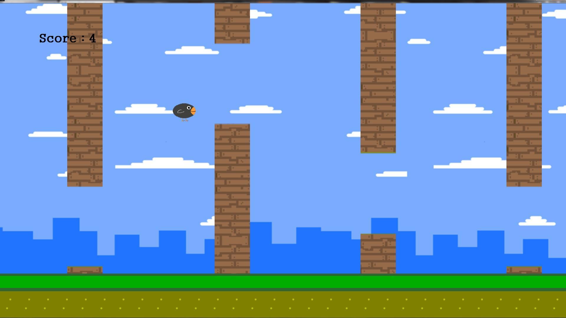 Screenshot of Flappy Crow