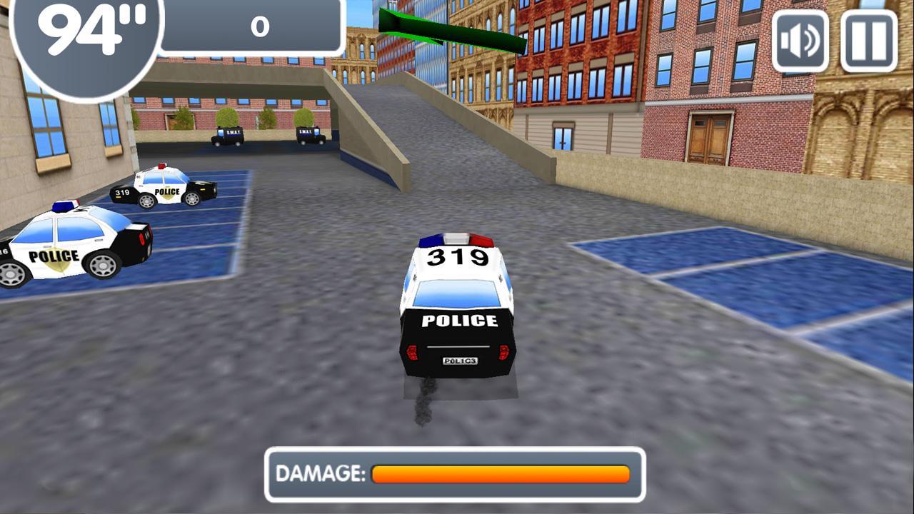 Screenshot of Police Cars Parking