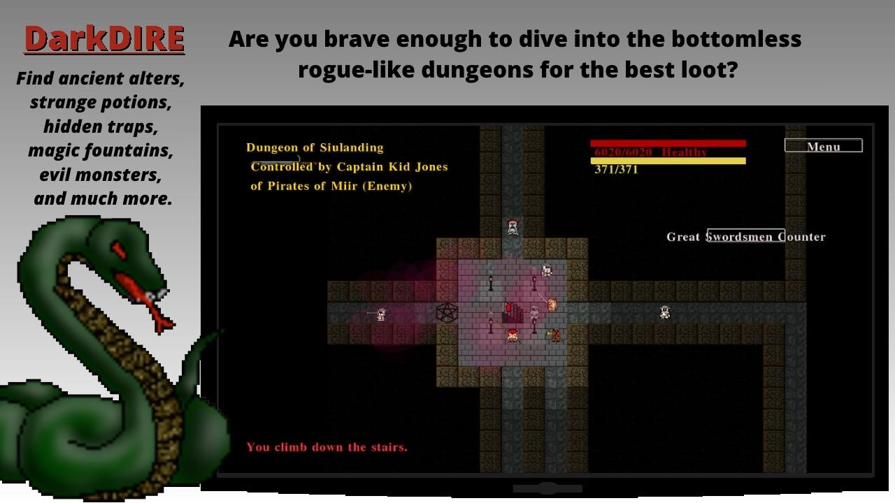 Screenshot of DireRPG