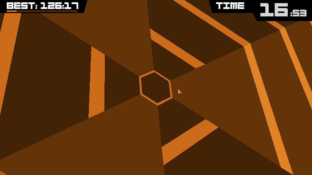 Screenshot of Super Hexagon