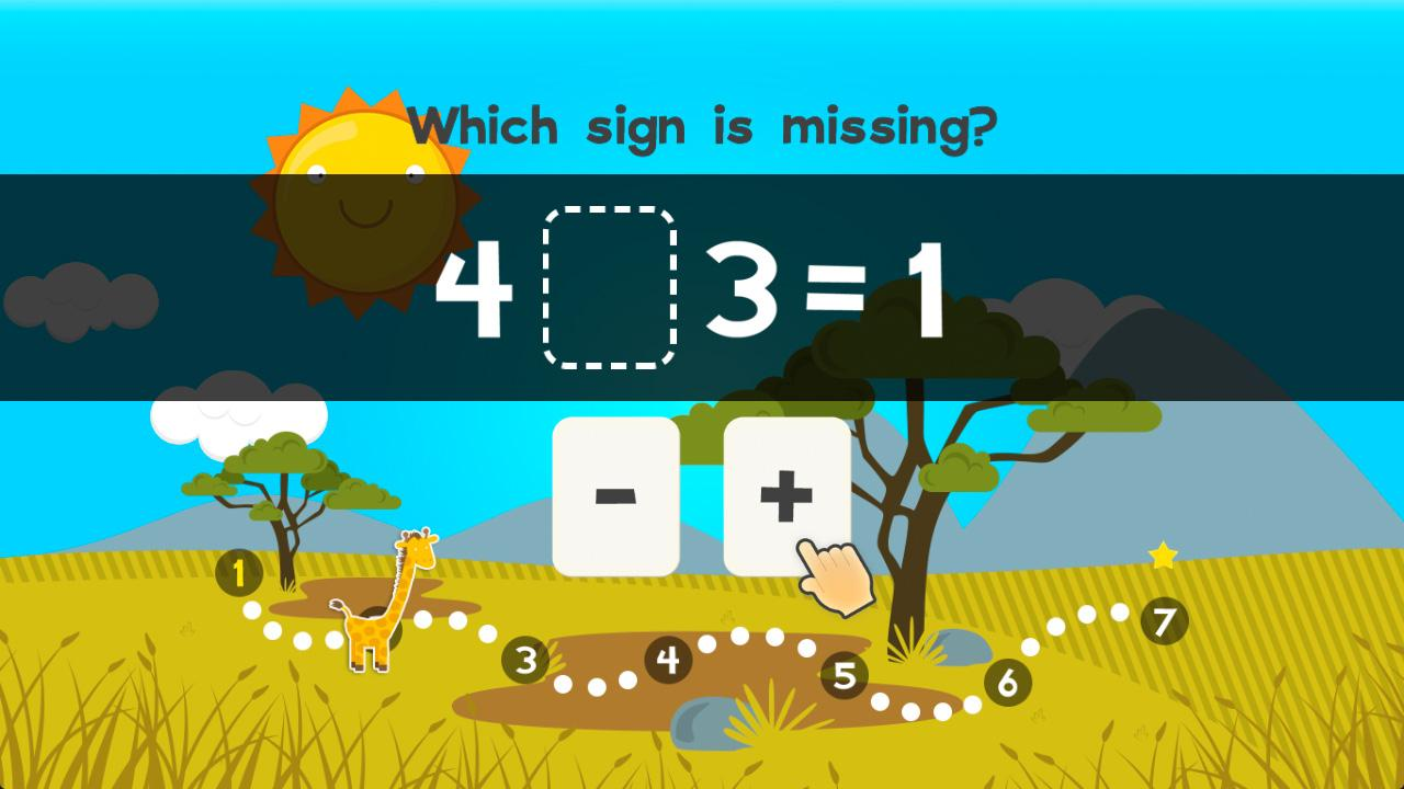 Screenshot of 123 Animal First Grade Math Games for Kids