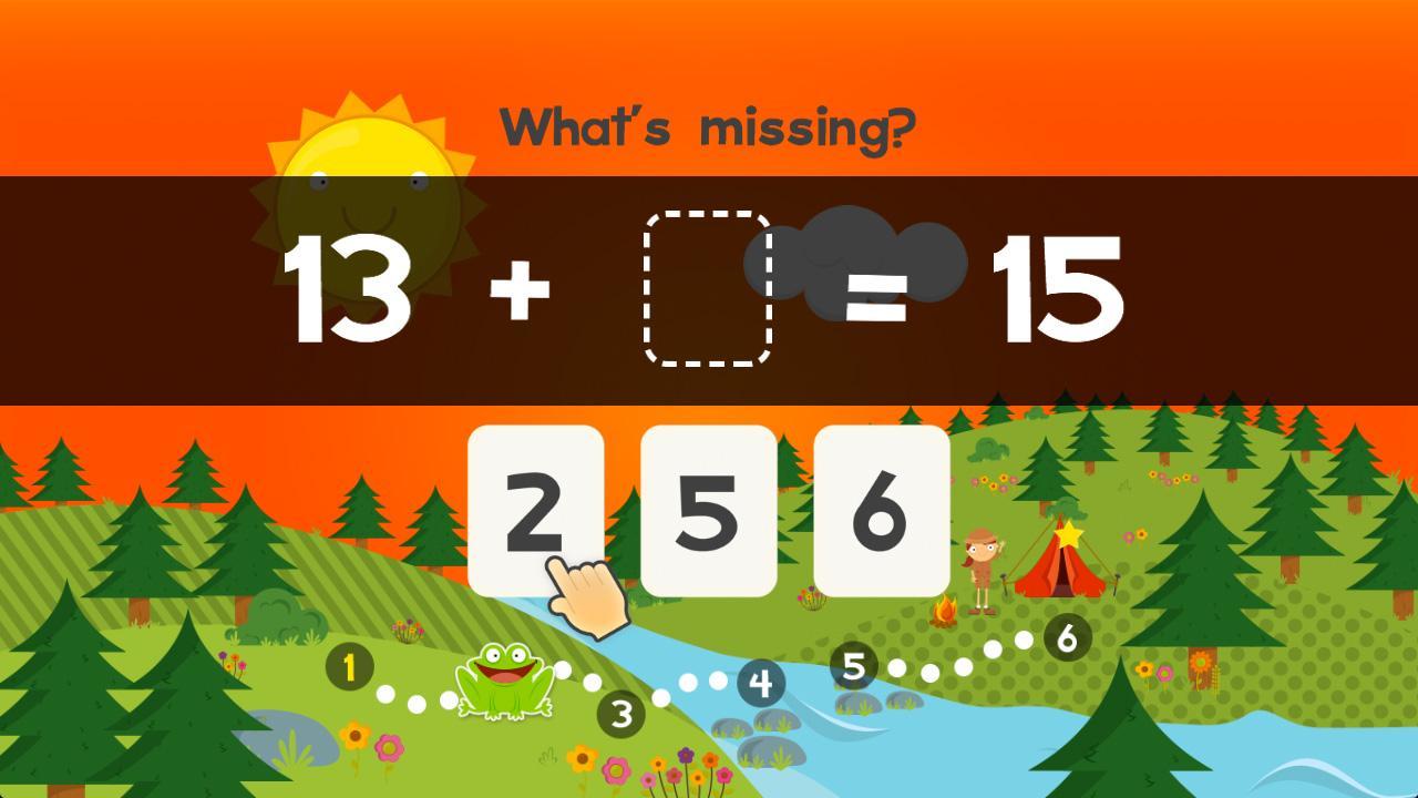 Screenshot of 123 Animal Second Grade Math Games for Kids