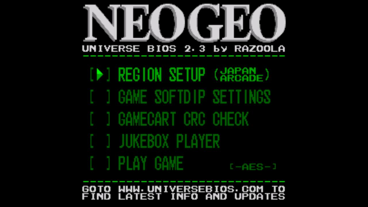 Screenshot of NEO.emu