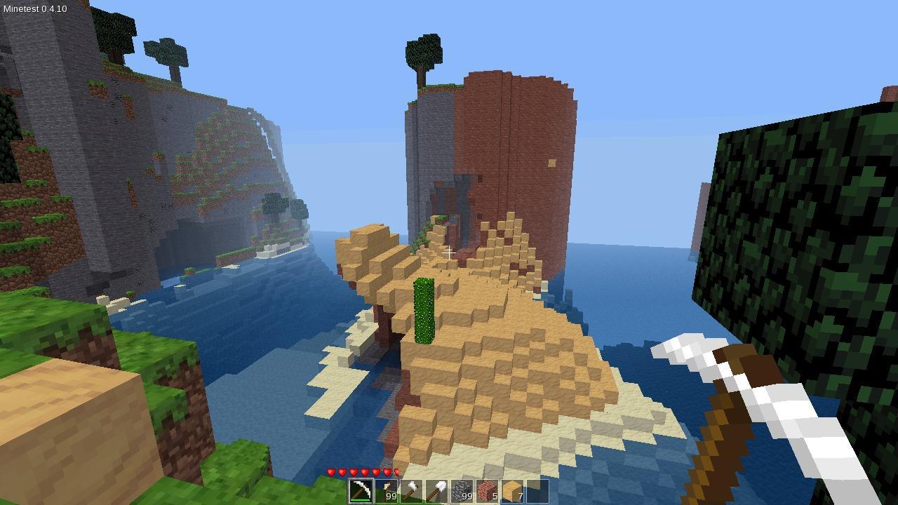 Screenshot of Minetest