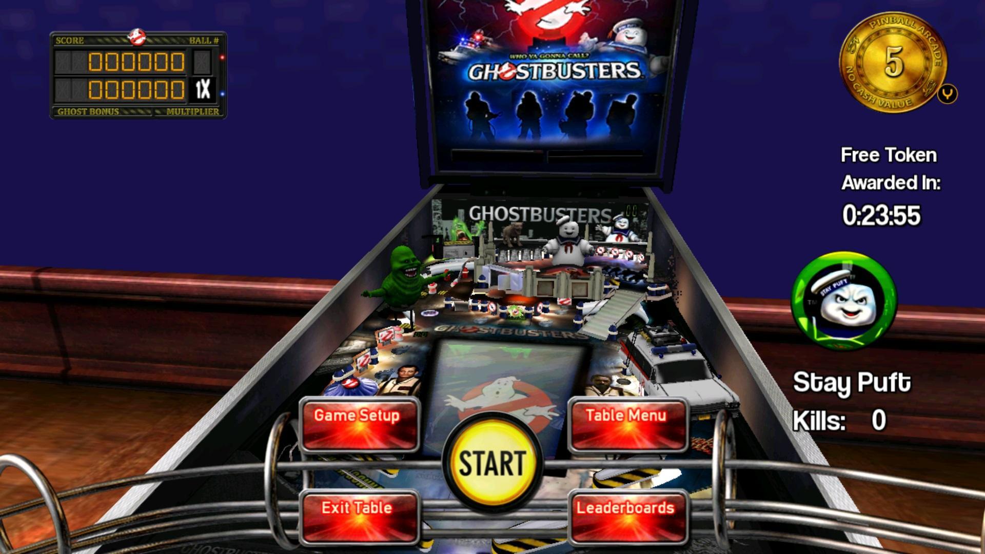 Screenshot of Ghostbusters Pinball
