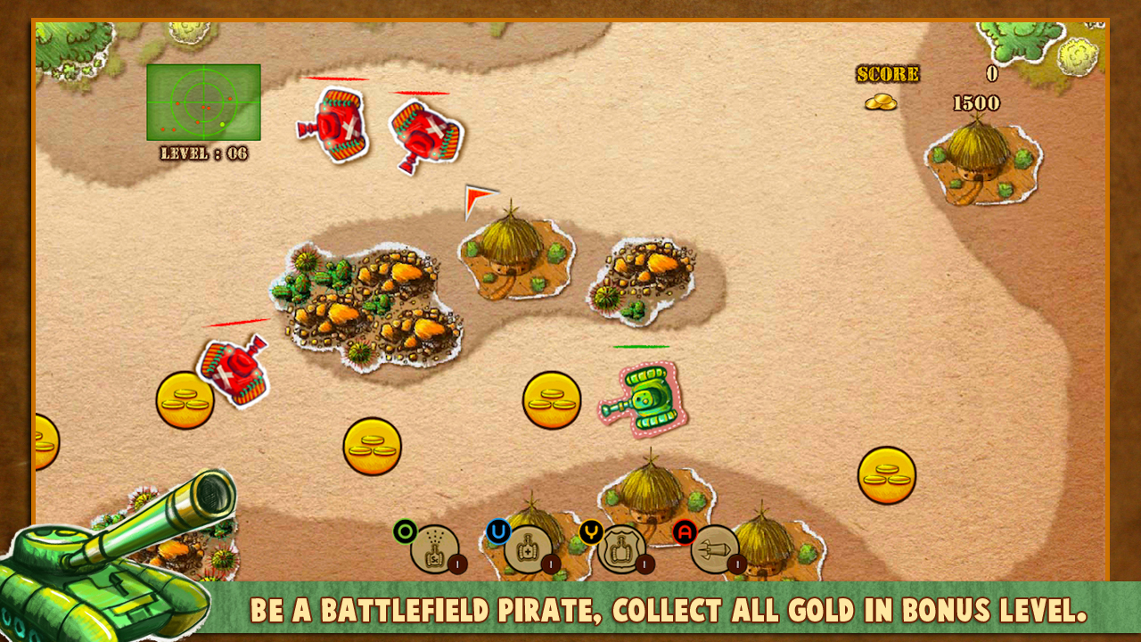 Screenshot of Doodle Tank Battle
