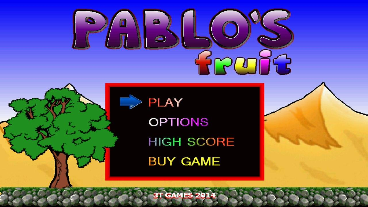 Screenshot of Pablo's Fruit