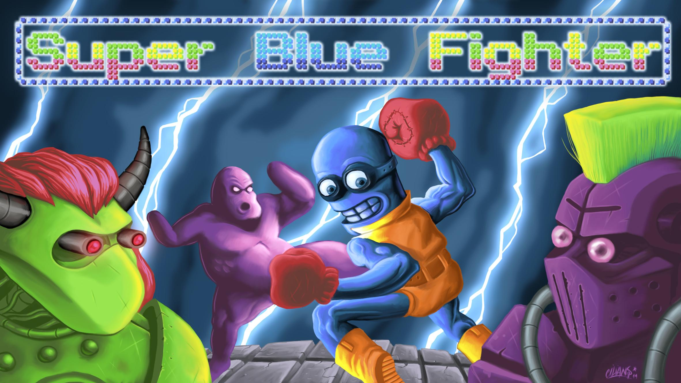 Screenshot of Super Blue Fighter