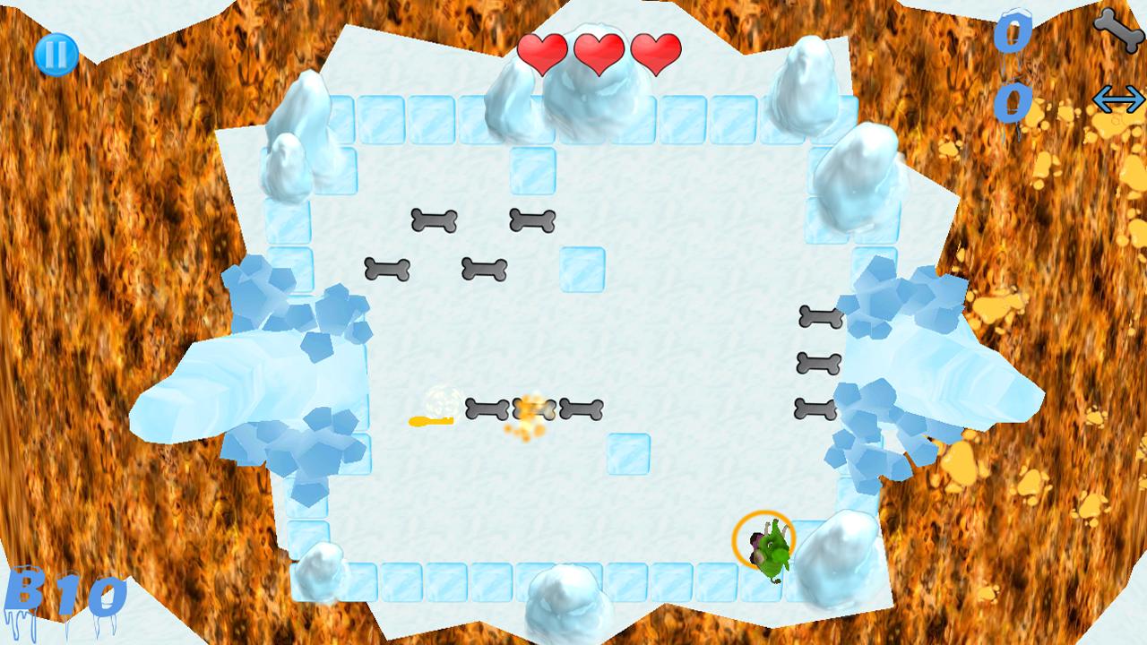 Screenshot of Ice Escape: Steakosaurus Rescue