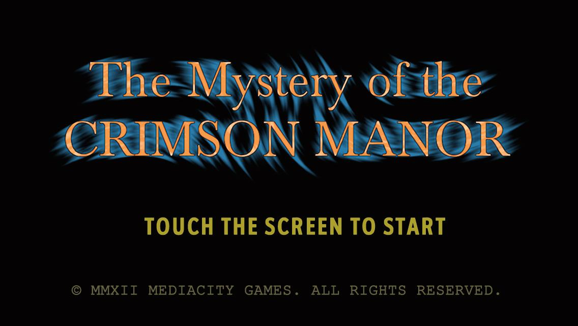 Screenshot of The Mystery of Crimson Manor