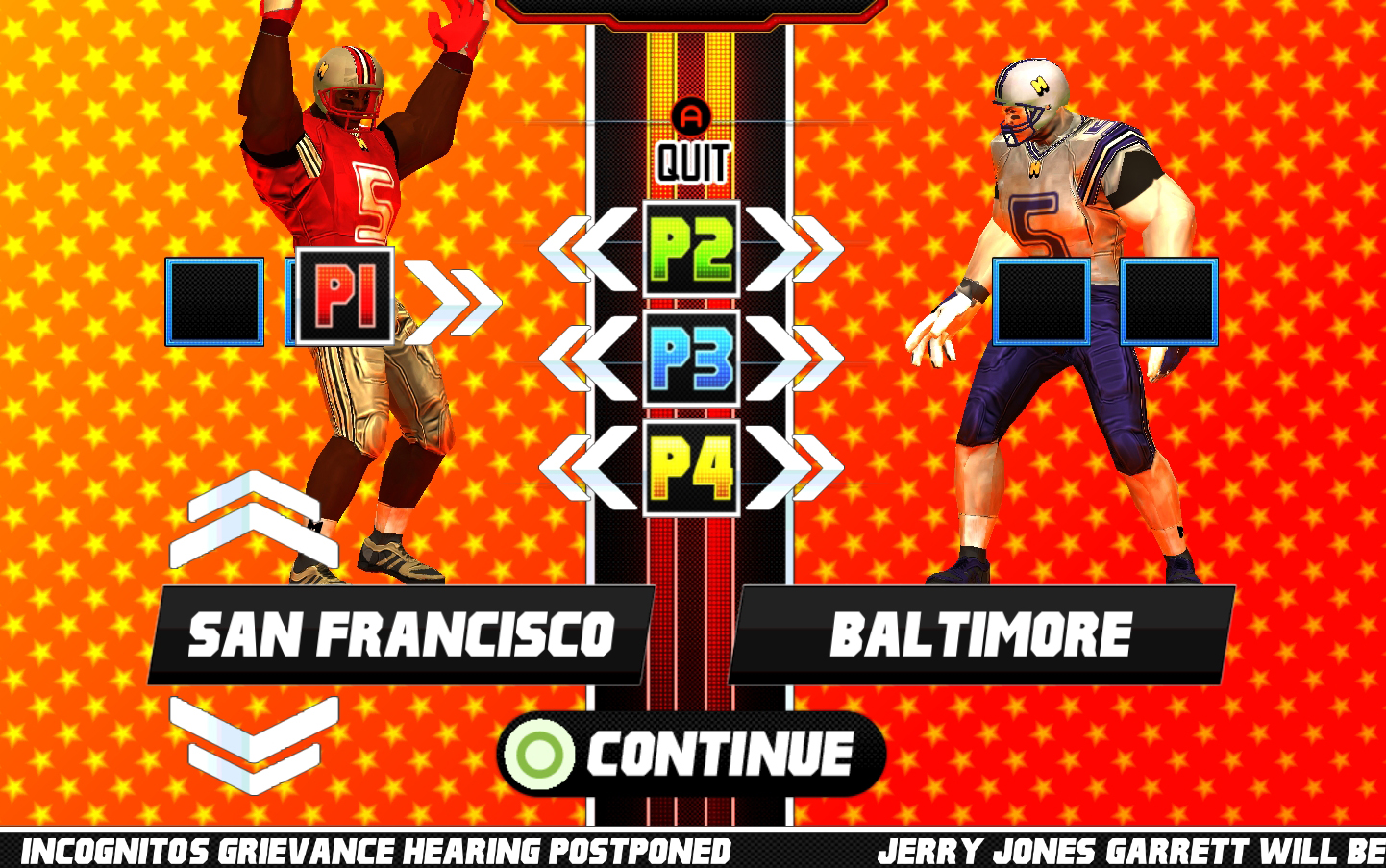 Screenshot of Gridiron Thunder