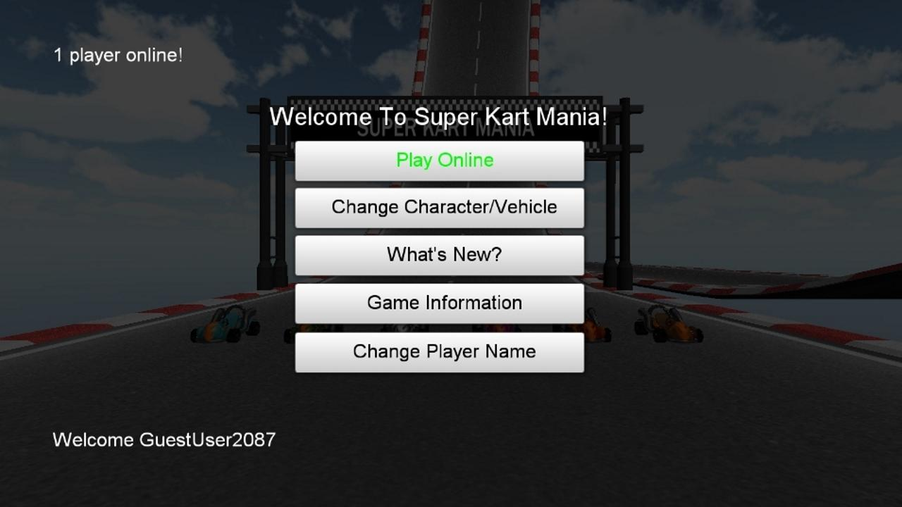 Screenshot of Super Kart Mania