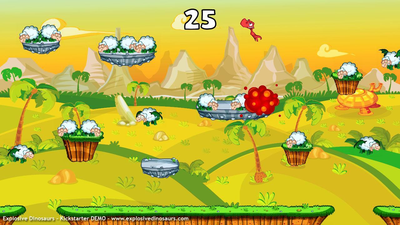 Screenshot of Explosive Dinosaurs