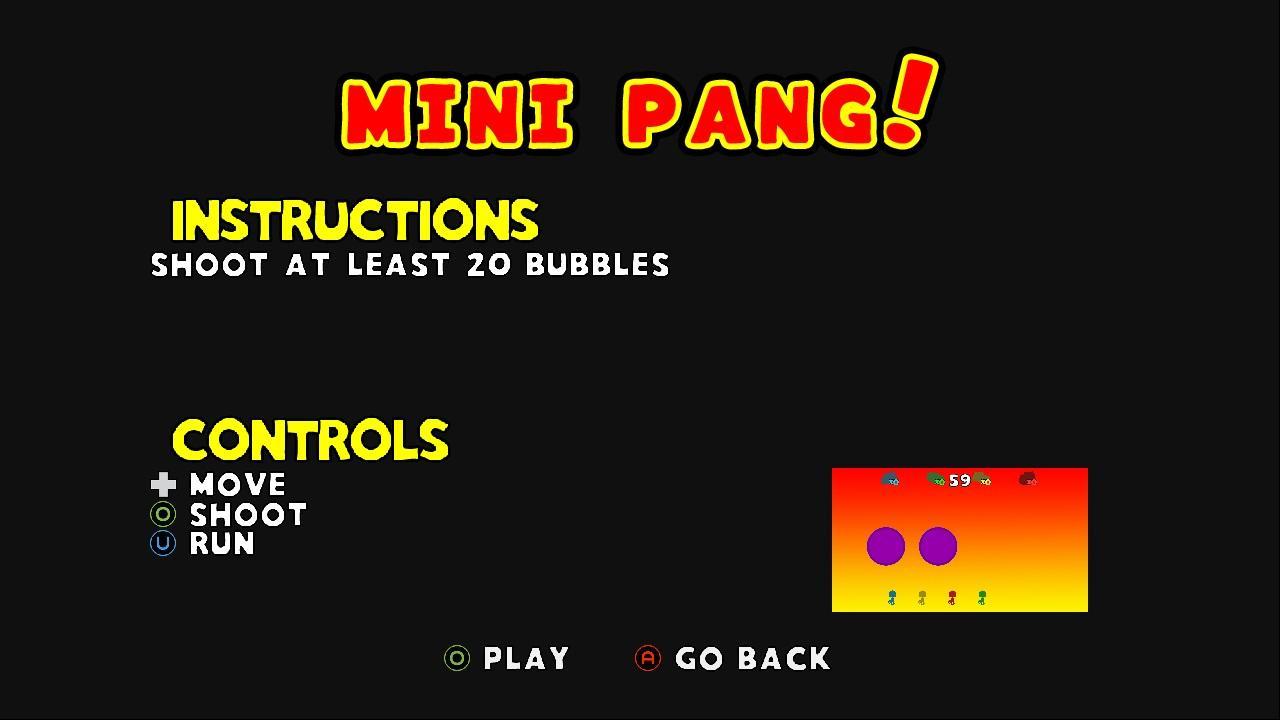 Screenshot of XD: Mini Pang! (beta)