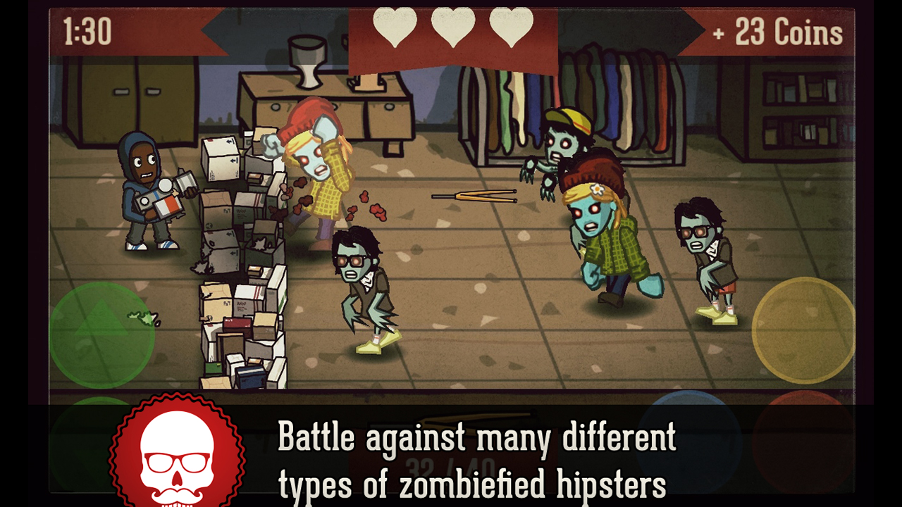 Screenshot of Hipster Zombies