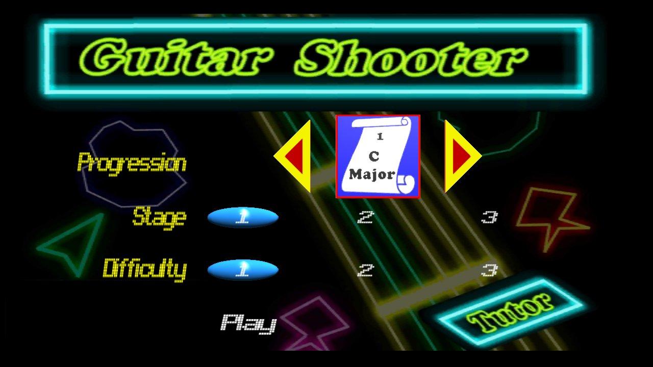Screenshot of Guitar Shooter Tutor