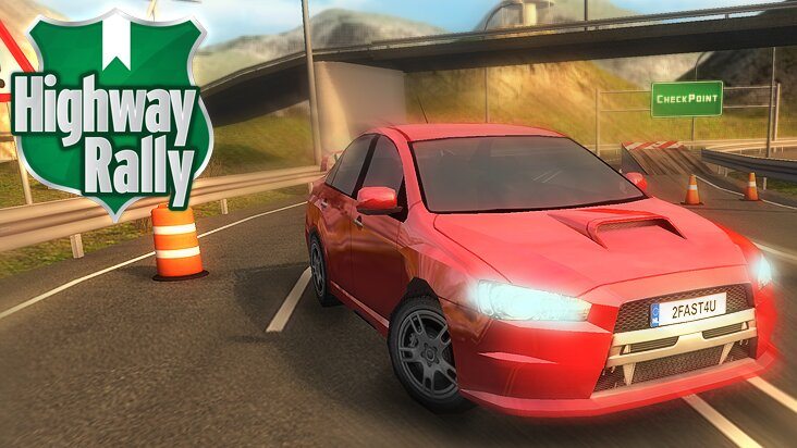 Screenshot of ../game/com.spilgames.highwayrally.htm