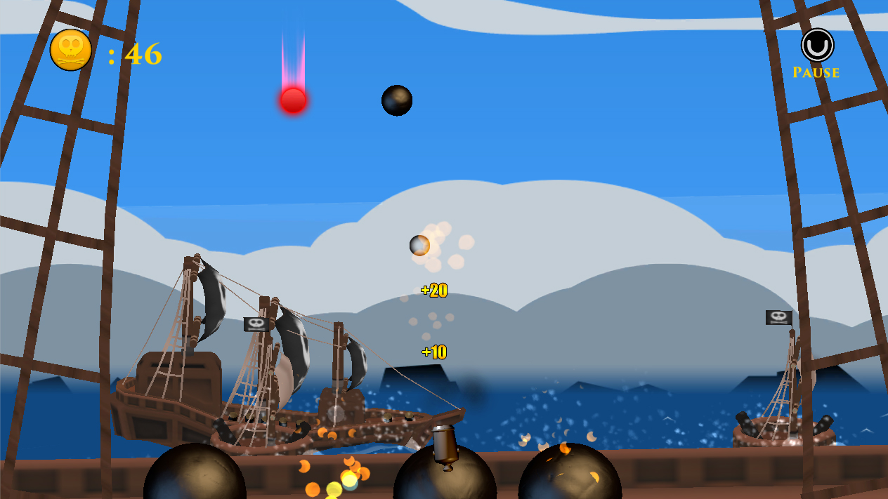 Screenshot of Cannon Ballers