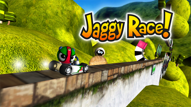 Screenshot of ../game/com.tiz777.jaggyrace.htm