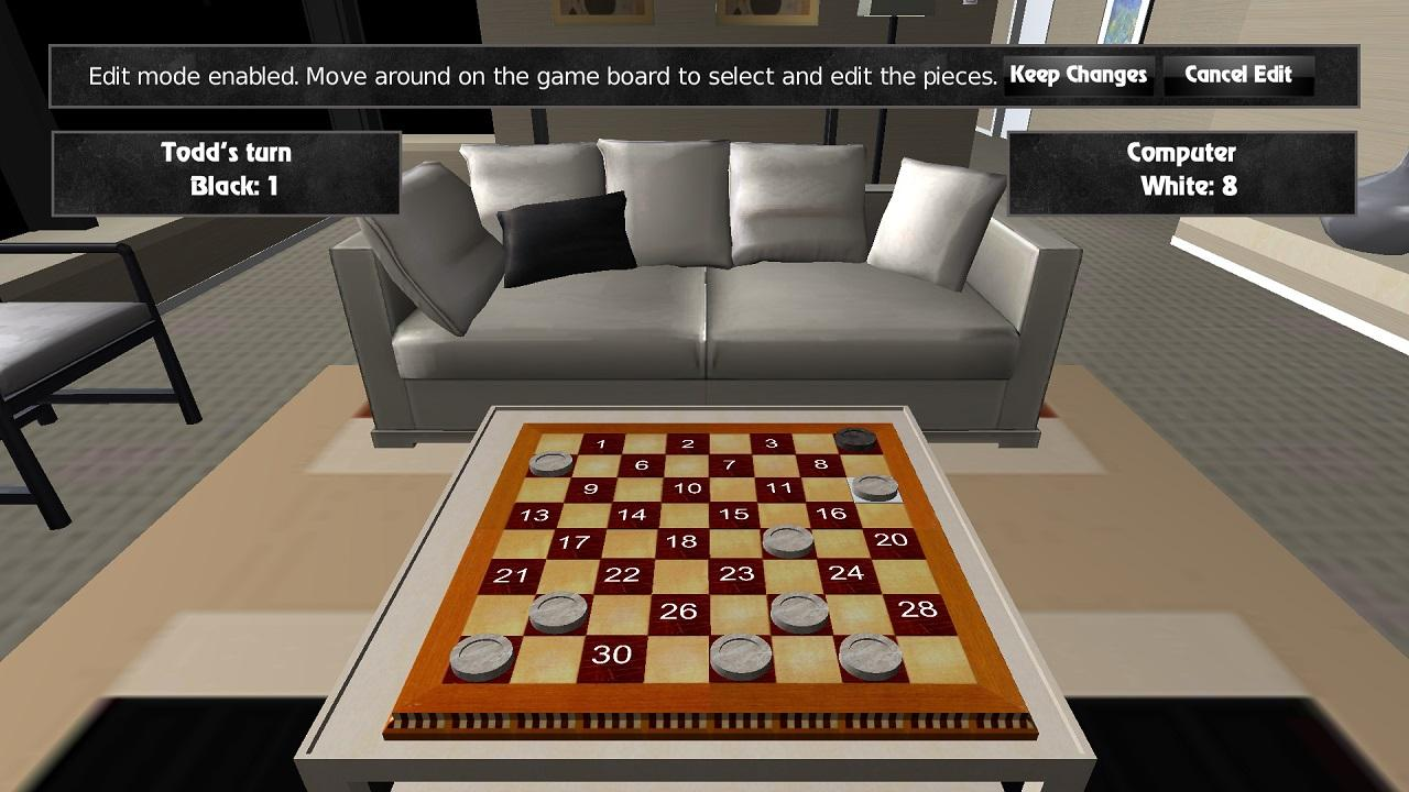Screenshot of 3D Checkers for OUYA