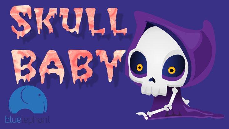 Screenshot of ../game/es.Bluelephant.skullbaby.htm
