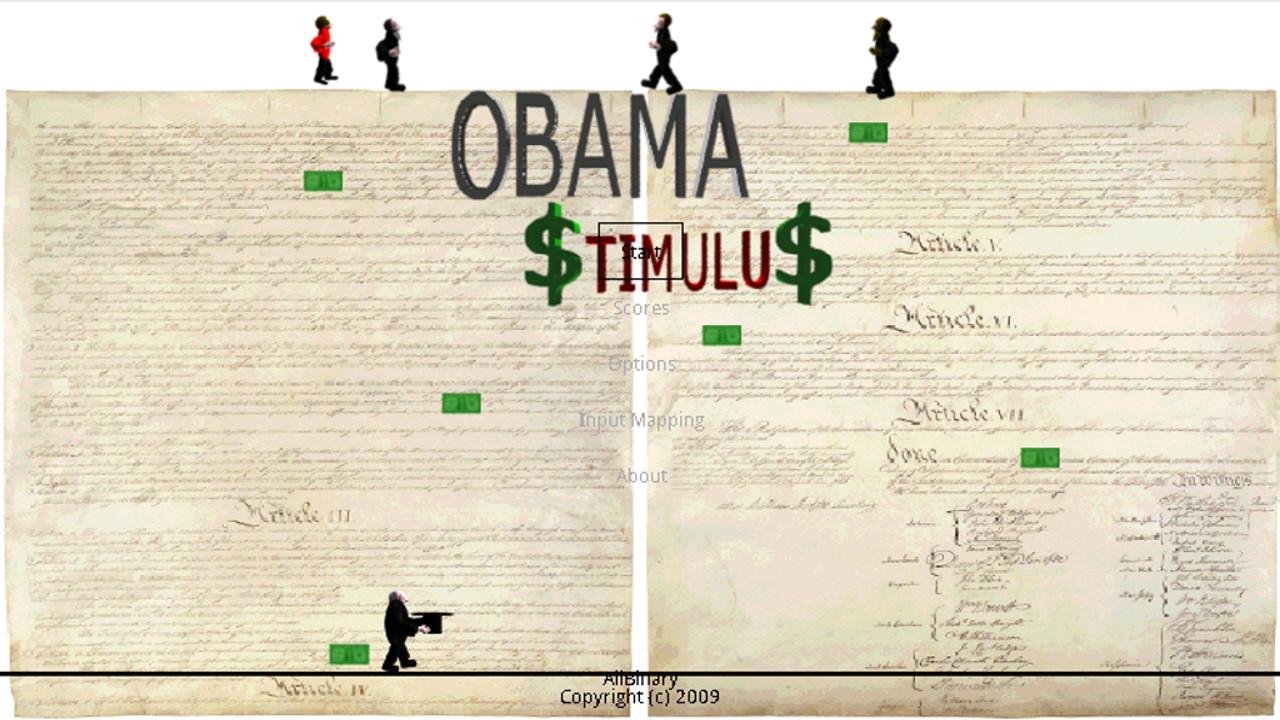 Screenshot of Obama Stimulus
