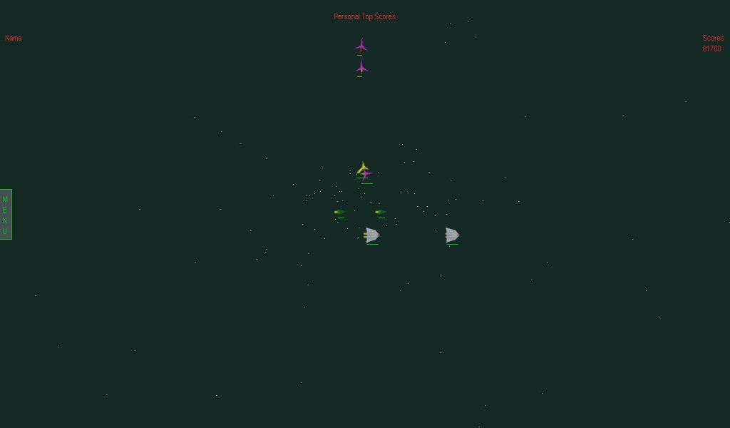 Screenshot of MiniSpaceWar