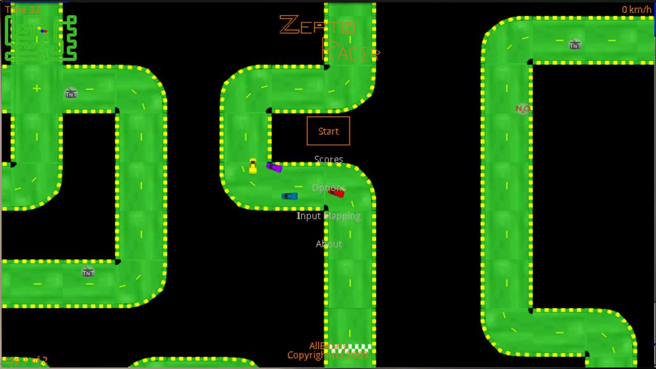 Screenshot of ZeptoRacer