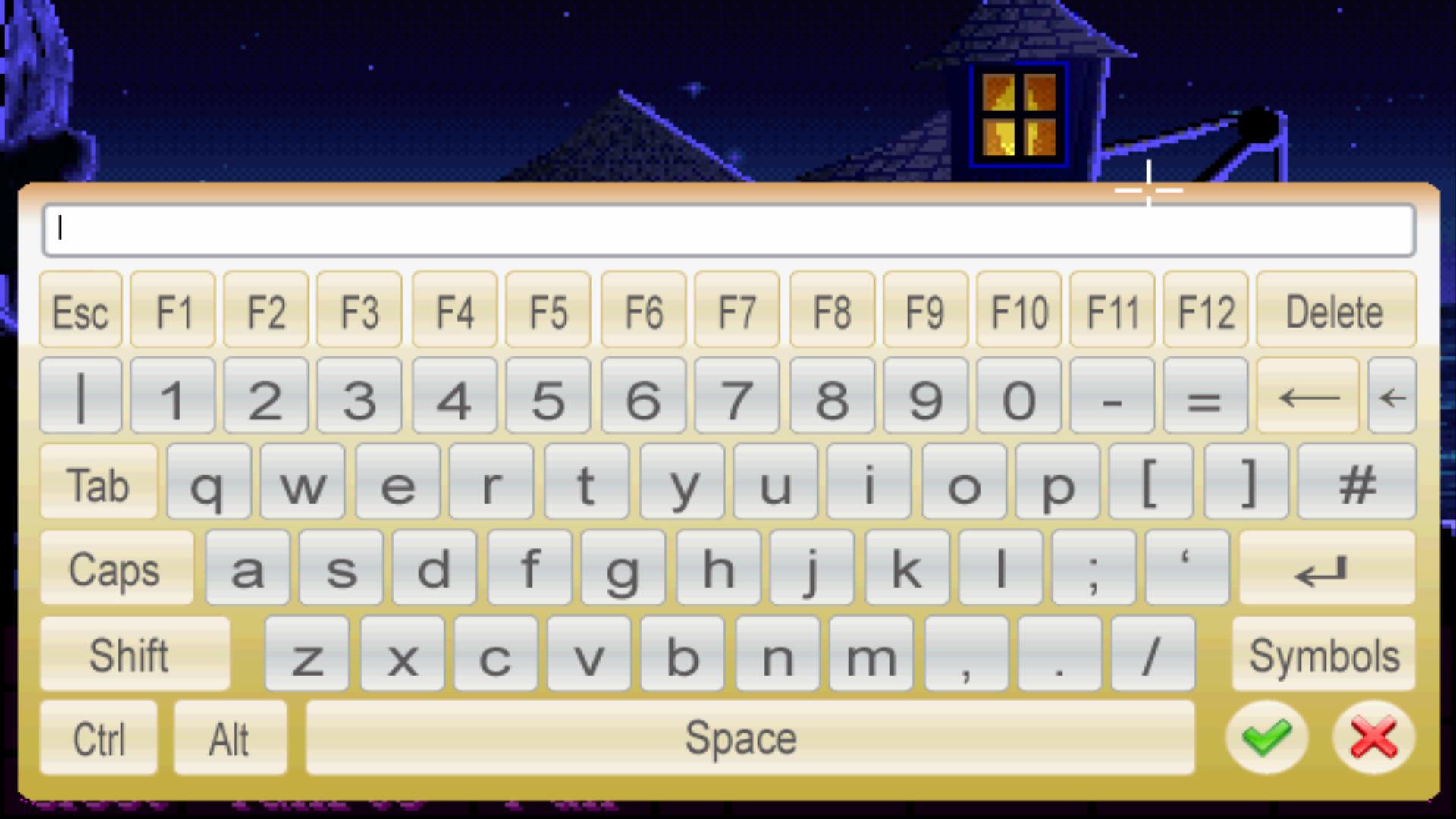 Screenshot of ScummVM