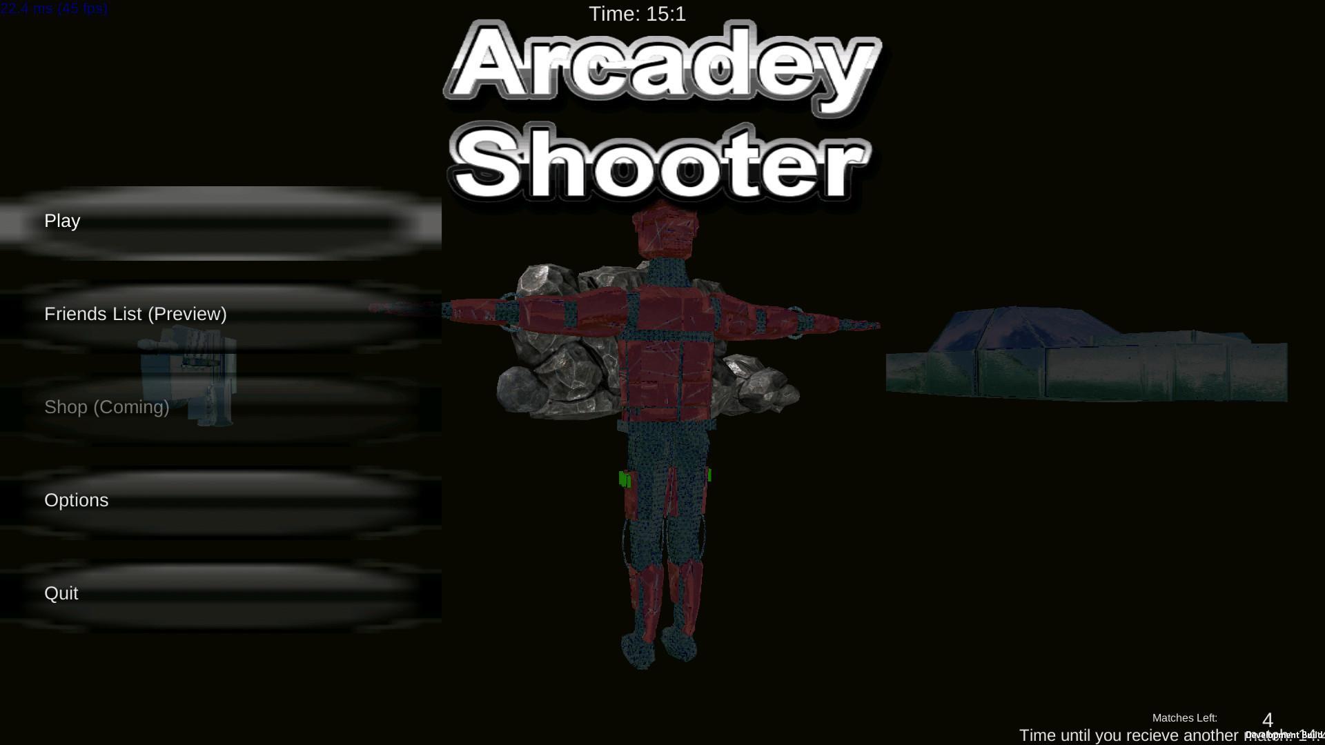 Screenshot of Arcadey Shooter: Alpha