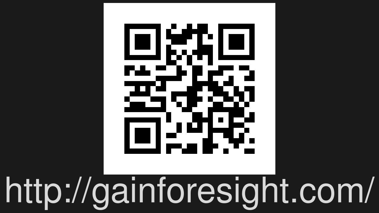 Screenshot of Foresight