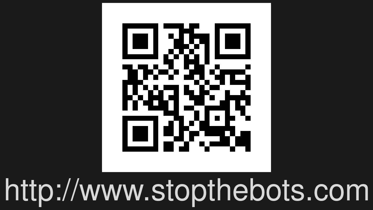 Screenshot of Stop The Bots